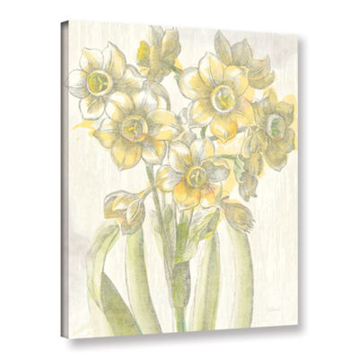 Brushstone Belle Fleur Yellow IV Crop Gallery Wrapped Canvas Wall Art