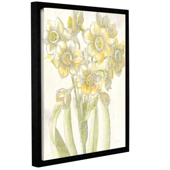 Brushstone Belle Fleur Yellow IV Crop Gallery Wrapped Floater-Framed Canvas Wall Art
