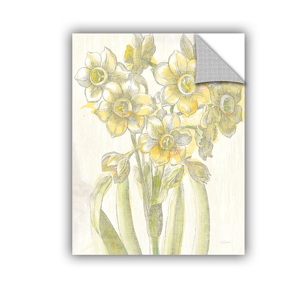 Brushstone Belle Fleur Yellow IV Crop Removable Wall Decal