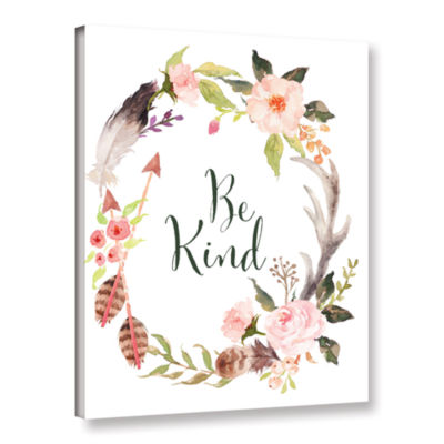 Brushstone Be Kind Wreath Gallery Wrapped Canvas