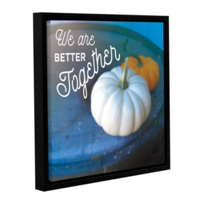 Brushstone Better TogeTher Gallery Wrapped Floater-Framed Canvas Wall Art