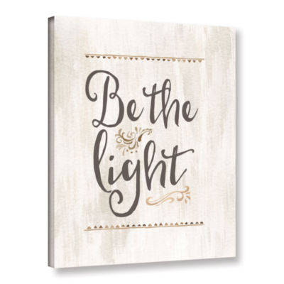 Brushstone Be The Light Gallery Wrapped Canvas
