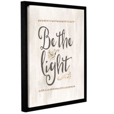 Brushstone Be The Light Gallery Wrapped Floater-Framed Canvas