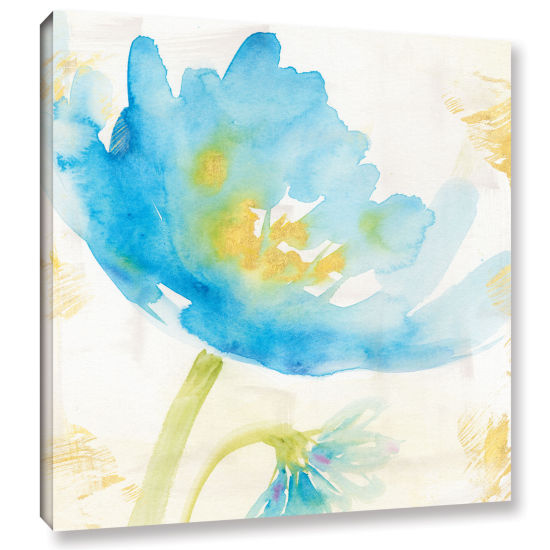 Brushstone Breeze Bloom II Gallery Wrapped CanvasWall Art