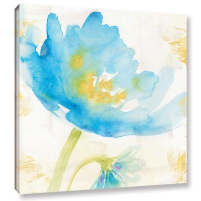 Brushstone Breeze Bloom II Gallery Wrapped CanvasWall Art