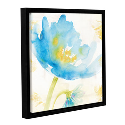 Brushstone Breeze Bloom II Gallery Wrapped Floater-Framed Canvas Wall Art