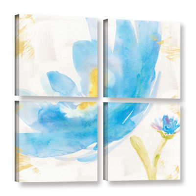 Brushstone Breeze Bloom V v2 4-pc. Square GalleryWrapped Canvas Wall Art