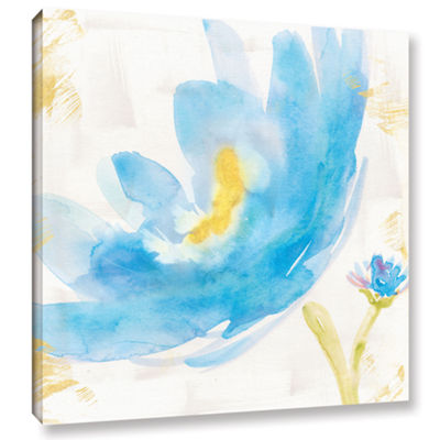 Brushstone Breeze Bloom V v2 Gallery Wrapped Canvas Wall Art