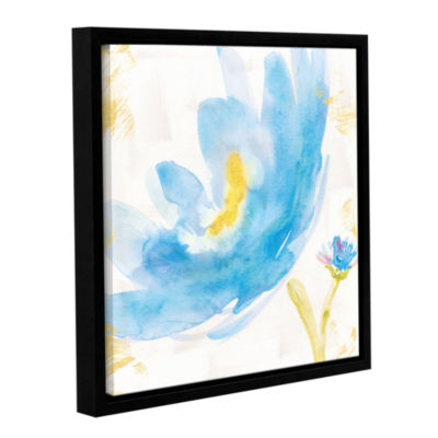 Brushstone Breeze Bloom V v2 Gallery Wrapped Floater-Framed Canvas Wall Art