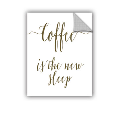 Brushstone Coffee Is the New Sleep Removable WallDecal
