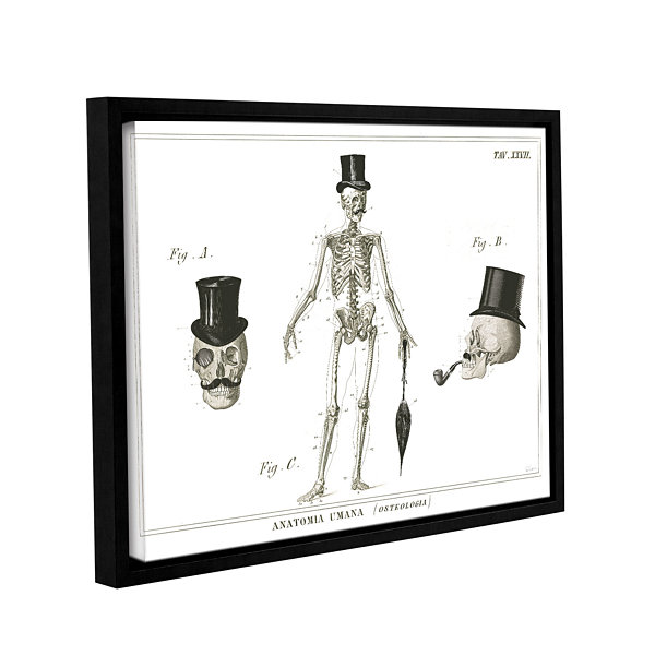 Brushstone Dandy Bones Gallery Wrapped Floater-Framed Canvas Wall Art