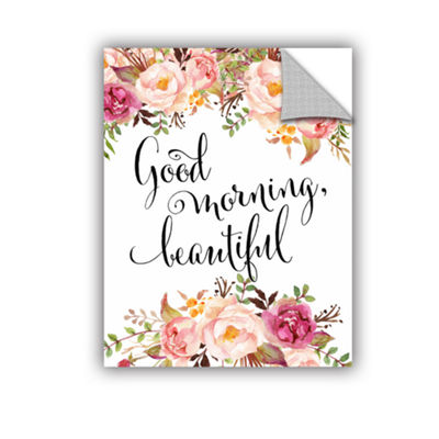Brushstone Good Morning Beautiful Removable Wall Decal