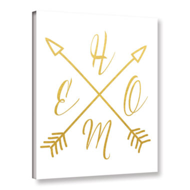 Brushstone Home Arrows Gold Gallery Wrapped Canvas