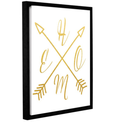 Brushstone Home Arrows Gold Gallery Wrapped Floater-Framed Canvas