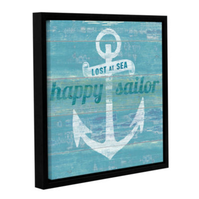 Brushstone Drifted Anchor Gallery Wrapped Floater-Framed Canvas Wall Art