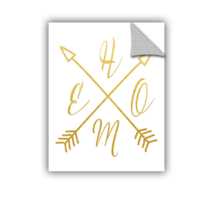 Brushstone Home Arrows Gold Removable Wall Decal