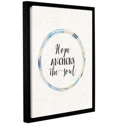 Brushstone Hope Anchors the Soul Cream BG GalleryWrapped Floater-Framed Canvas
