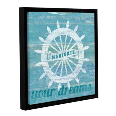 Brushstone Drifted Captains Wheel Gallery WrappedFloater-Framed Canvas Wall Art