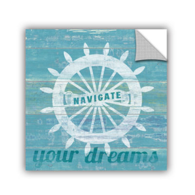 Brushstone Drifted Captains Wheel Removable Wall Decal