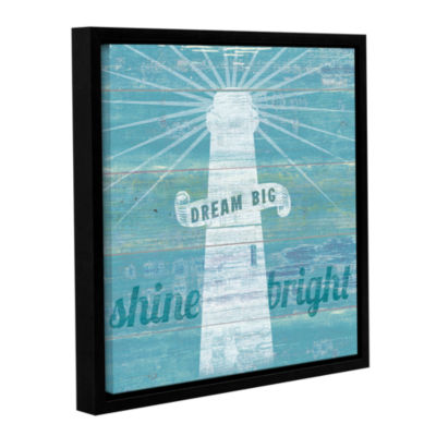 Brushstone Drifted Lighthouse Gallery Wrapped Floater-Framed Canvas Wall Art