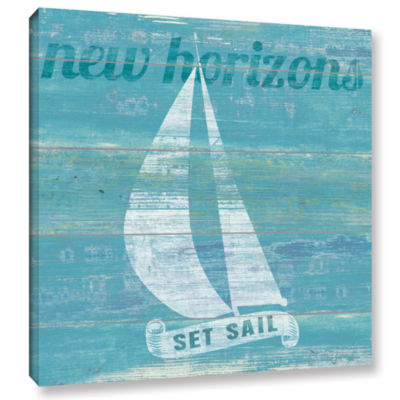 Brushstone Drifted Sailboat Gallery Wrapped CanvasWall Art