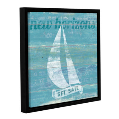 Brushstone Drifted Sailboat Gallery Wrapped Floater-Framed Canvas Wall Art