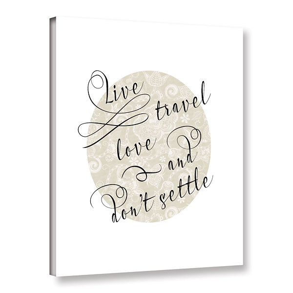 Brushstone Live Travel Love Gallery Wrapped Canvas