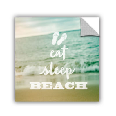 Brushstone Eat Sleep Beach Removable Wall Decal
