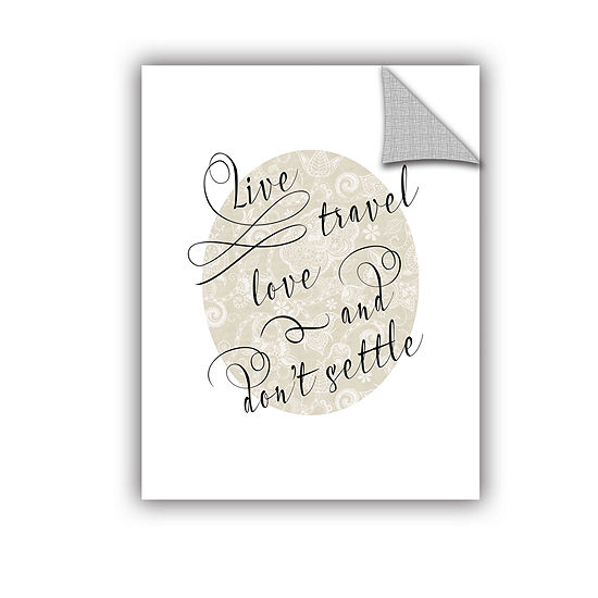 Brushstone Live Travel Love Removable Wall Decal