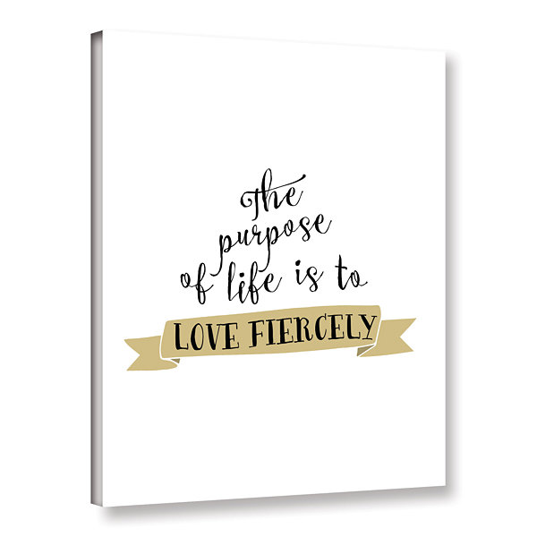 Brushstone Love Fiercely Gallery Wrapped Canvas
