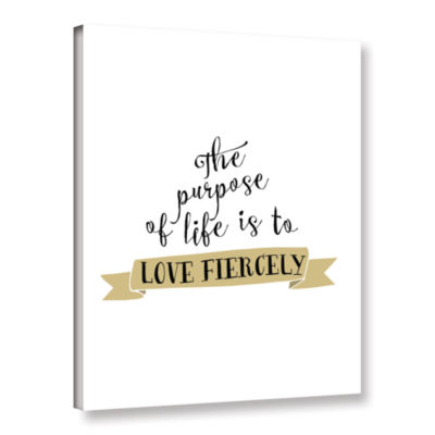 Brushstone Love Fiercely Gallery Wrapped Canvas Wall Art