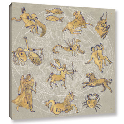 Brushstone Gilded Zodiac Gallery Wrapped Canvas Wall Art