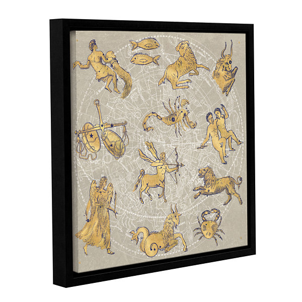 Brushstone Gilded Zodiac Gallery Wrapped Floater-Framed Canvas Wall Art