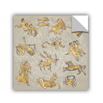 Brushstone Gilded Zodiac Removable Wall Decal