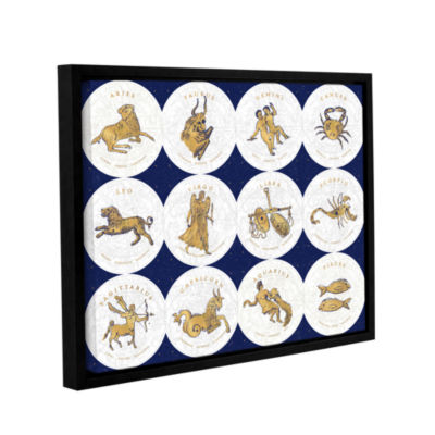 Brushstone Gilded Zodiac Signs Gallery Wrapped Floater-Framed Canvas Wall Art