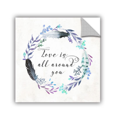 Brushstone Love is All Around You Square RemovableWall Decal