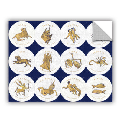 Brushstone Gilded Zodiac Signs Removable Wall Decal