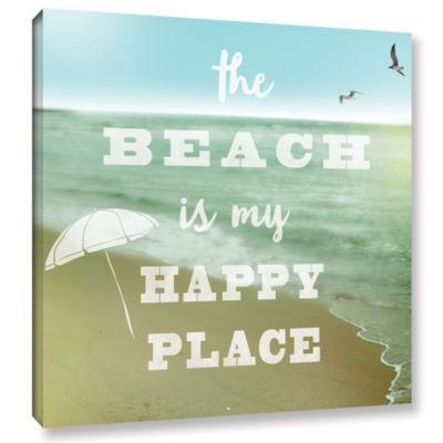 Brushstone Happy Beach Gallery Wrapped Canvas WallArt