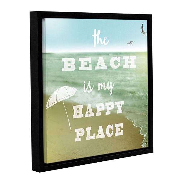 Brushstone Happy Beach Gallery Wrapped Floater-Framed Canvas Wall Art
