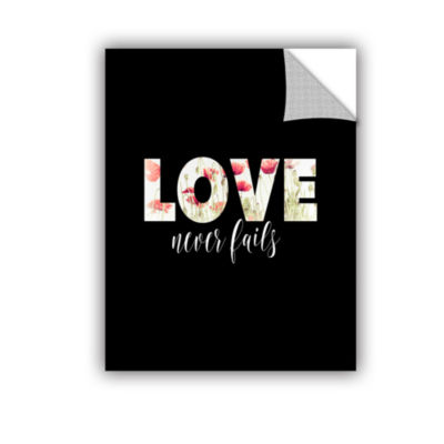 Brushstone Love Never Fails Floral Removable WallDecal