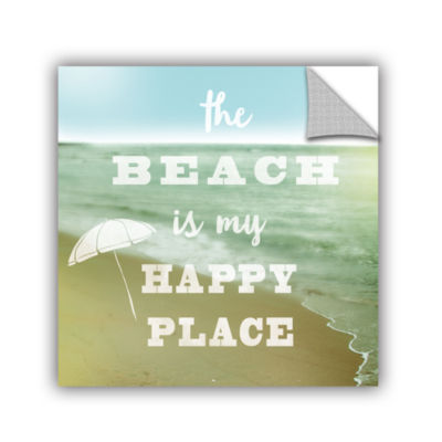 Brushstone Happy Beach Removable Wall Decal