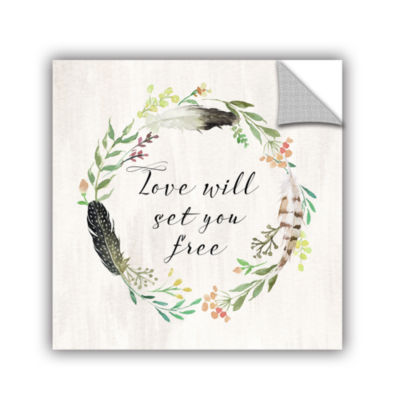 Brushstone Love will set you free square RemovableWall Decal