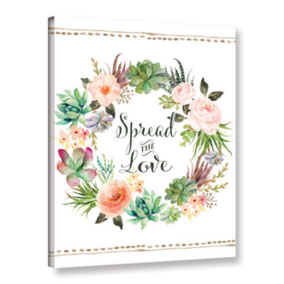 Brushstone Spread The Love Wreath Gallery WrappedCanvas