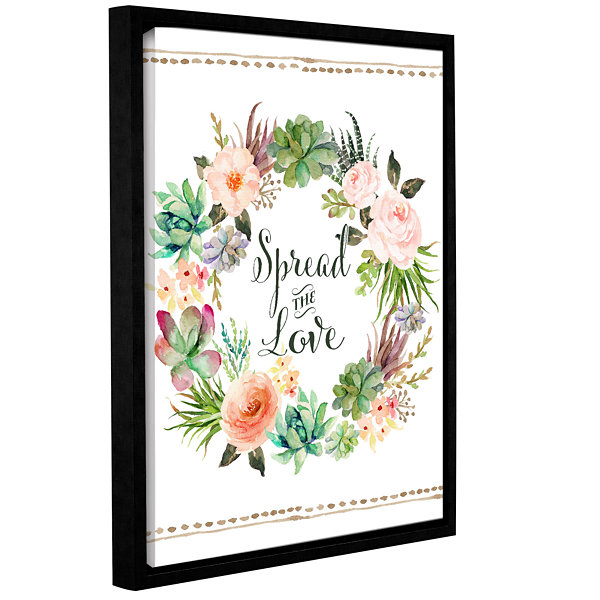 Brushstone Spread The Love Wreath Gallery WrappedFloater-Framed Canvas