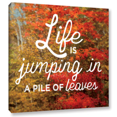 Brushstone Life is for Jumping Gallery Wrapped Canvas Wall Art