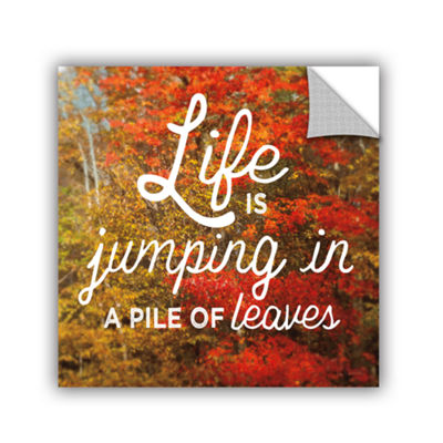 Brushstone Life is for Jumping Removable Wall Decal