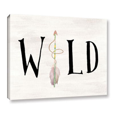 Brushstone Wild Watercolor Arrow Gallery Wrapped Canvas