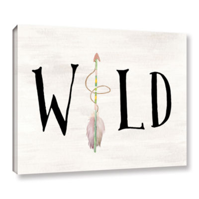 Brushstone Wild Watercolor Arrow Gallery Wrapped Canvas Wall Art