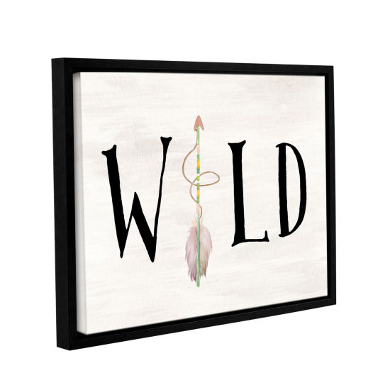 Brushstone Wild Watercolor Arrow Gallery Wrapped Floater-Framed Canvas