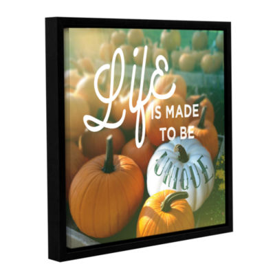 Brushstone Life is Unique Gallery Wrapped Floater-Framed Canvas Wall Art